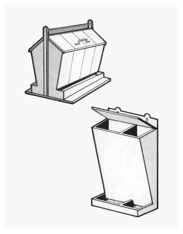 Бункерные кормушки для курей своими руками фото